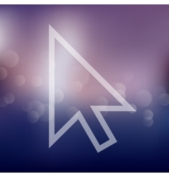 Cursor icon on blurred background vector