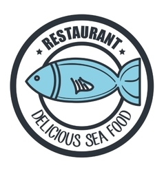 delicious sea food isolated icon design vector image vector image