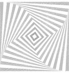 Design twirl square geometric background vector