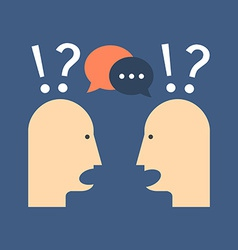 Discussion chat concept flat design isolated on vector