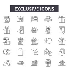 exclusive line icons signs set outline vector image