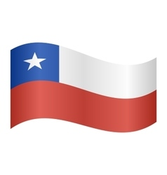 Flag of Chile waving on white background vector image