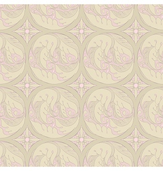 Floral retro pattern vector