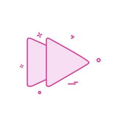 forward media icon design vector image