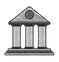 front old building vector image