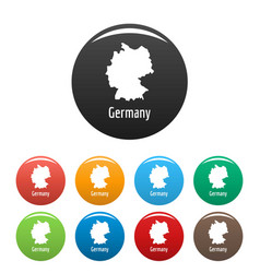 Germany map in black set simple vector