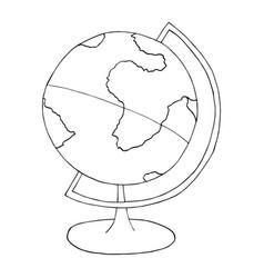 globe sphere line sketch vector image