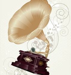 Gramophone retro stile vector