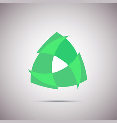 green geometric abstract logo template logotype vector image