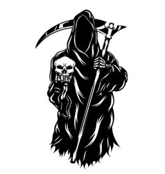 grim reaper holding head skull without vector image