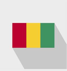 Guinea flag long shadow design vector