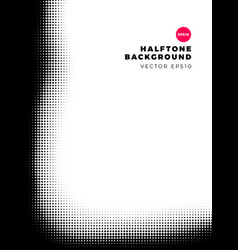 halftone dots background left and bottom frame vector image
