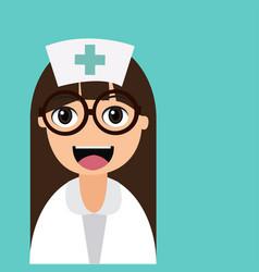 happy cartoon nurse vector image