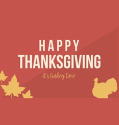 Happy thanksgiving with turkey collection vector