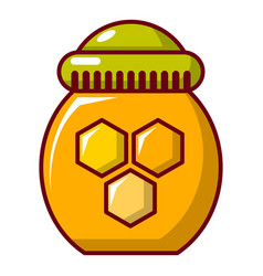 honey pot icon cartoon style vector image