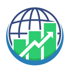 icon logo for global business vector image