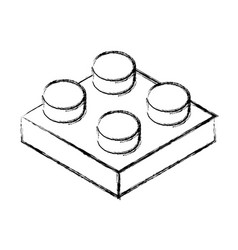 Isometric block game piece vector