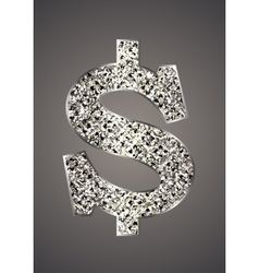Jewelry in the form of dollars vector