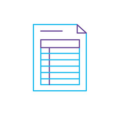 Line business information document paper data vector