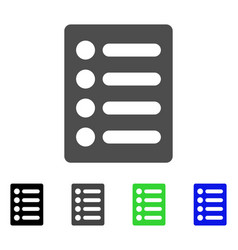 list flat icon vector image