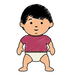 Little baby boy character vector