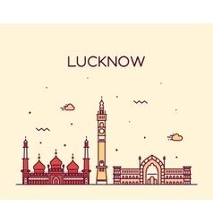 Lucknow skyline linear style vector