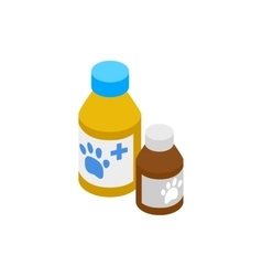 Medicine for animals icon isometric 3d style vector