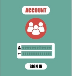 Member login form into account management page ui vector