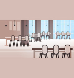modern cafe interior empty no people restaurant vector image