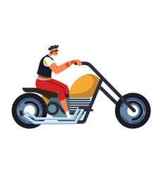 motorcycle extreme driver motorcyclist and vector image