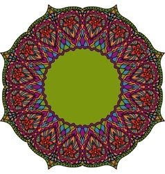 Multicoloured Indian mandala Tribal element in vector