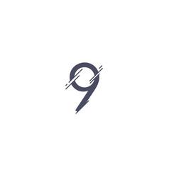 Number 9 template design vector