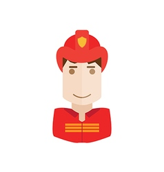 Object fireman avatar vector