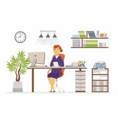 Office woman - modern flat design vector