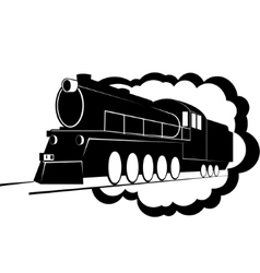 Old steam locomotive-2 vector image vector image