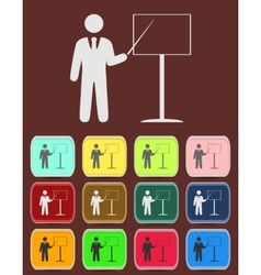 People - man person with a pointer and board vector