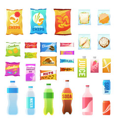 Product for vending tasty snacks sandwich biscuit vector
