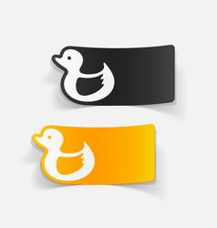 Realistic design element duck vector