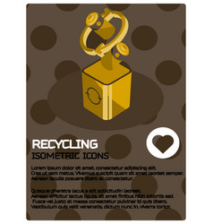 recycling color isometric poster vector image