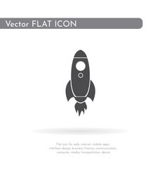 rocket icon for web business finance and vector image