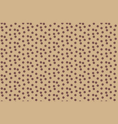 scattered polka dots beige coffee color seamless vector image