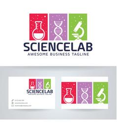 Science lab logo design vector