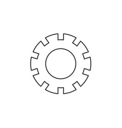 settings icon wheel cog cogwheel icon isolated on vector image