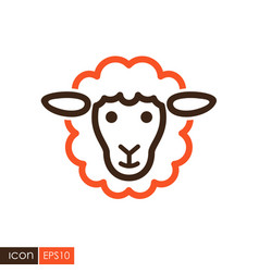 Sheep icon animal head vector