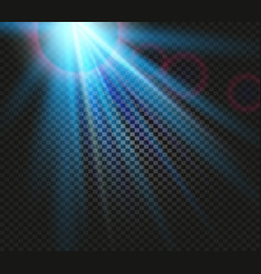 shining blue color light effects glowing vector image