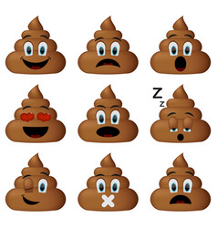 shit icon set vector image
