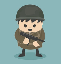 soldier vector image