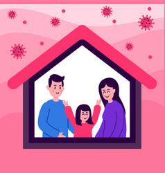 Stay home during coronavirus corona virus vector