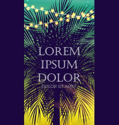 summer abstract instagram stories banner vector image
