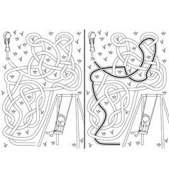 Swing maze vector image